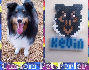 Custom Pet Perler Portrait/Pet Memorial
