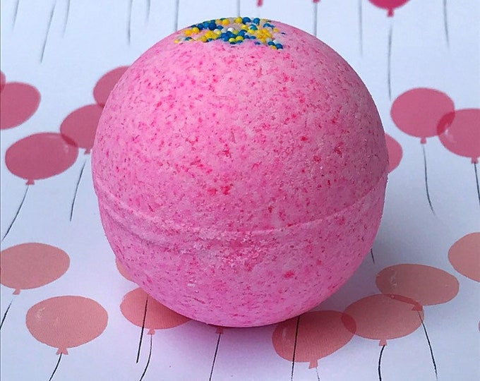 MLP Pinkie Pie's Birthday Cake Buttercream Frosting and Cake Scented Bath Bomb
