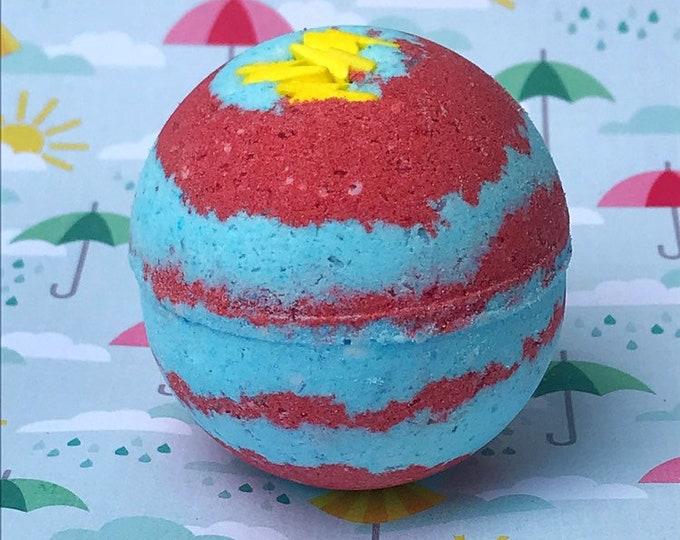 MLP Rainbow Dash's 20% Cooler Blue Raspberry/Cherry Scented Bath Bomb