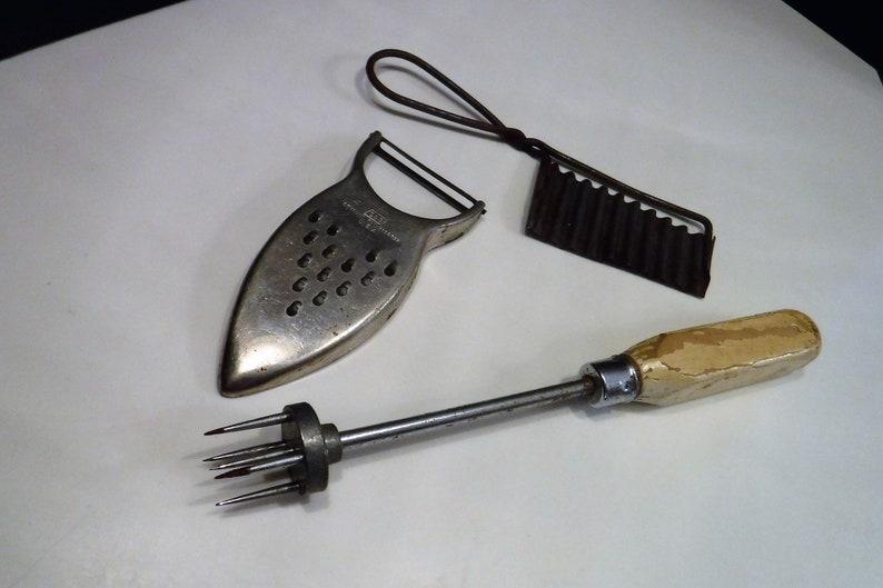 3 Antique Kitchen Gadgets Antique Peeler Antique Grater Rustic Kitchen  Utensils, Rustic Kitchen Gadgets, Rustic Decor, Rustic Cheese Slicer