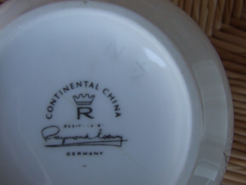 Jet Rose Pattern Raymond Loewy Design Black /& White Continental China Bowl Black Rose Serving Bowl Rosenthal Continental China BOWL