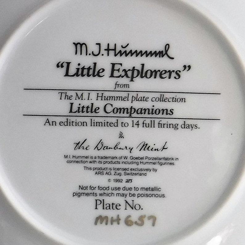 92 Hummel Little Companion MN657 Little Collectible Plate Hummel Plate Little Explorers  Collectible Plate Hummel Little Explorers