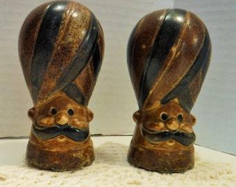 Turban Men Salt and Pepper Shakers, Vintage Men Unique Salt and Pepper Shakers, Holt Howard Shakers,1970s Genies Figurines, Bohemian Style