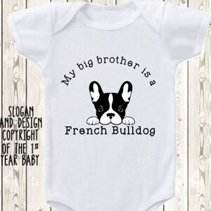 I Love My Big Brother Dog Onesie \u00ae Brand Bodysuit Or Shirt Pregnancy Announcement Baby Big Brother Paw Print Dog Lover Unique Baby Gift