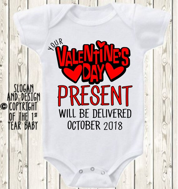 Valentine S Day Pregnancy Announcement Onesie Brand Etsy
