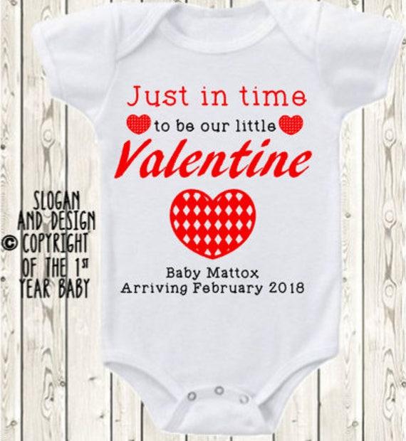 Valentine S Day Pregnancy Announcement Idea Onesie Brand Etsy