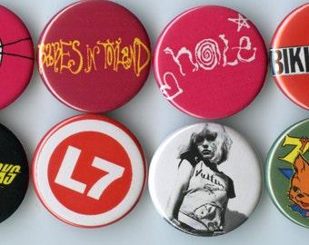 Riot Grrrl / Punk Button Pack