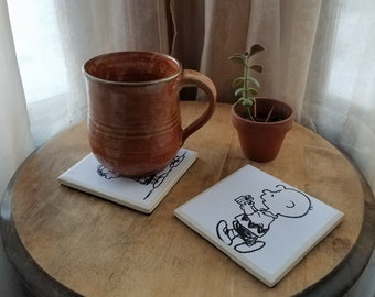 Book Page Coasters - Charlie Brown and Peanuts
