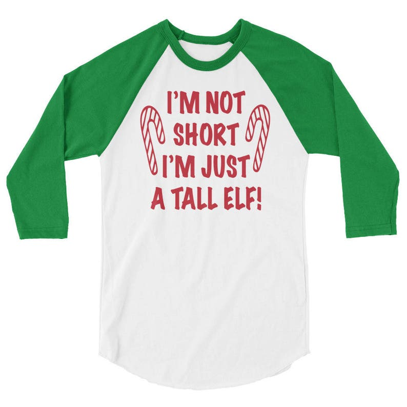 0fd08481 Christmas T-shirt I'm Not Short I'm Just A Tall Elf | Etsy