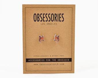 Monarch Butterfly Earrings Orange & Black Butterfly Stud Earrings Post Butterfly Jewelry Butterfly Accessories Butterfly Gift 90s Grunge