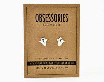 Ghost Earrings Ghost Stud Earrings Post Ghost Jewelry Ghost Gift Boo Halloween Earrings Halloween Stud Halloween Jewelry Halloween Gift Idea