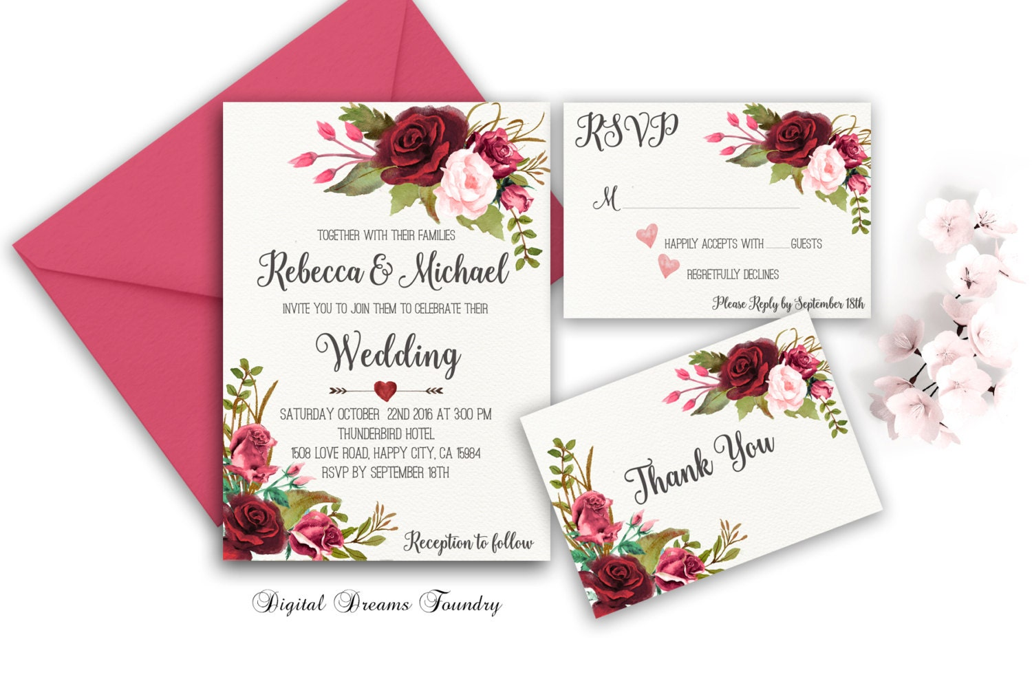 This is a graphic of Impeccable Etsy Wedding Invitations Printable