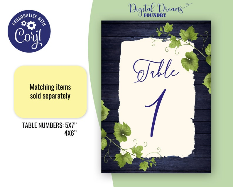 Printable Place Card Rustic Reserved Seating Card Names Card Table place card EW018 Vineyard Theme Editable Place Card Wedding Template