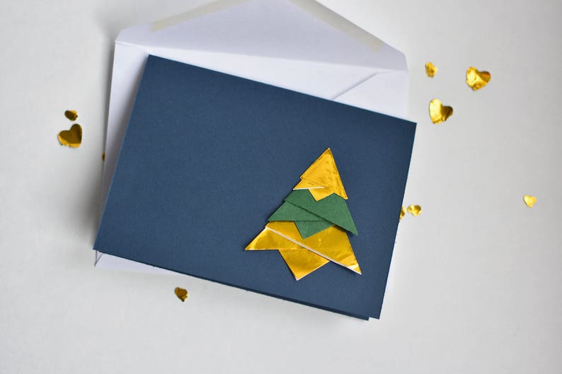 Christmas card Christmas tree Origami Christmas tree card image 0