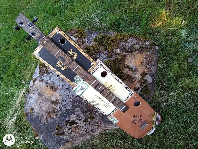 Three String Cigar Box Mountain Dulcimer Free Diddley Bow image 0