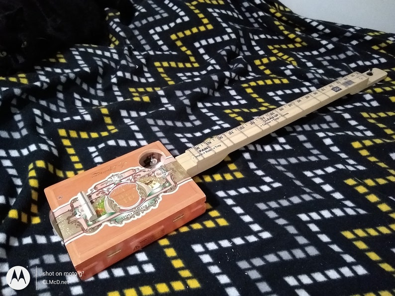 FRETTED Diddley Bow Electric Piezo Volume/Volume Free image 0