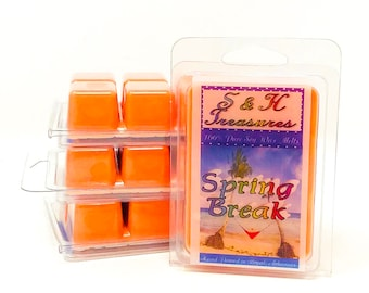 Spring Break - Pure Soy Wax Melts - Spring Scents - Summer Fun - Fruity Scents - Home Fragrance - Scented Wax Tarts - Air Freshener