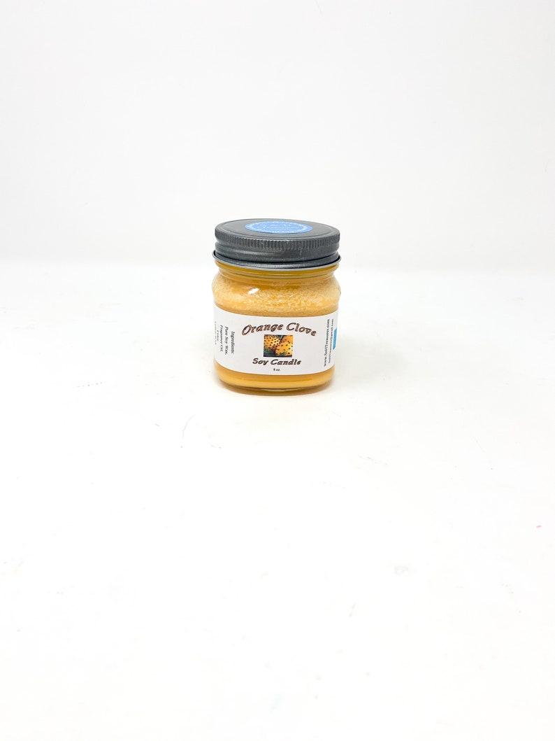 Orange Clove 8 oz Soy Mason Jar Candle