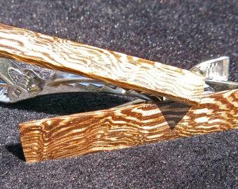 Pince à cravate en bois faisan