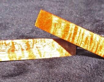 Pinces à cravates bois de Koa hawaïenne