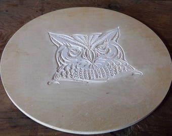 Wood Owl head