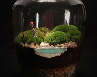 Golf Terrarium // Golf Course Terrarium // Moss Terrarium // Golf Gift // Gift for Dad // Golf Lover // Golf Course // Terrarium Gift