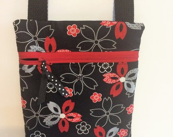 Quilted Zippered Cross Body Bag