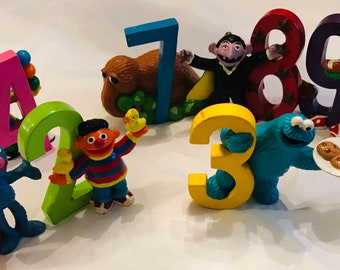 9ade4b3782f Vintage Sesame Street hard rubber and plastic Figures Grover Bert Ernie  Cookie Monster Oscar the Grouch