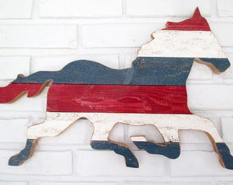 Rustic Horse Sign Wall Decor Wood Horse Weathervane Farm Country Wall Art  #6510