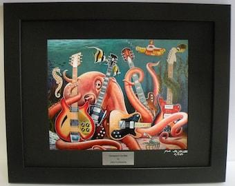 e560ce9d768 Octopus Ocean Tropical Fish Seascape Guitars Music Seahorse Limited Edition  Framed Print Wall Art Print by John Guillemette