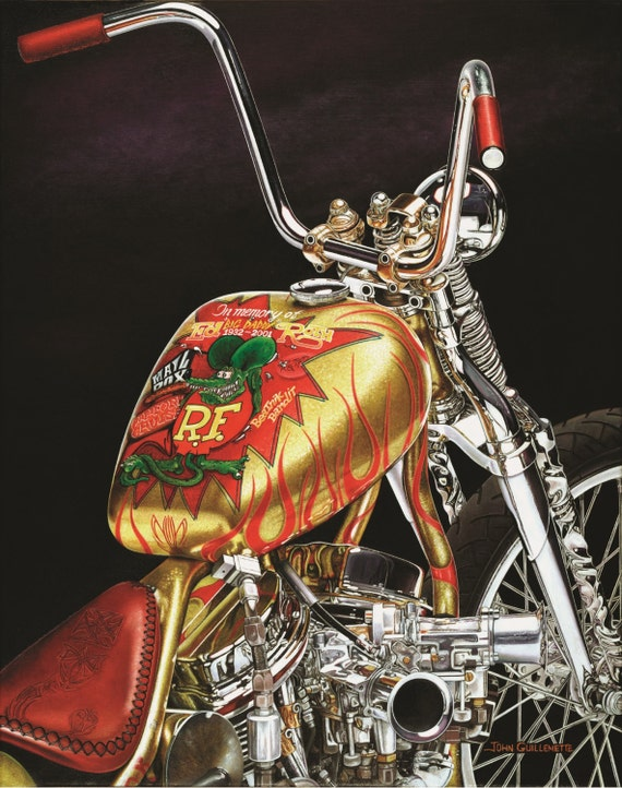 indian larry rat fink wall art daddy o bobber signed limited etsy