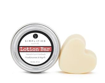 Frankincense & Myrrh Lotion Bar / Body Lotion Bar / Lotion Bar / Organic Moisturizer / Body Butter / Cuticle Cream / Shea Butter Bar