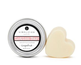Grapefruit Lotion Bar / Body Lotion Bar / Lotion Bar / Organic Moisturizer / Shea Butter Bar / Cuticle Cream / Body Butter /Beeswax Lotion