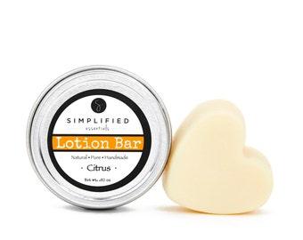 Citrus Lotion Bar / Body Lotion Bar / Lotion Bar / Organic Moisturizer / Shea Butter Bar / Cuticle Cream / Body Butter / Beeswax Lotion
