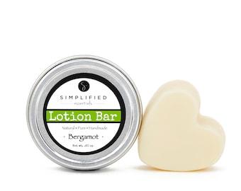 Bergamot Lotion Bar / Body Lotion Bar / Lotion Bar / Organic Moisturizer / Shea Butter Bar / Cuticle Cream / Body Butter / Beeswax Lotion