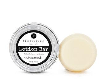 Unscented Lotion Bar / Body Lotion Bar / Lotion Bar / Organic Moisturizer / Shea Butter Bar / Cuticle Cream / Body Butter / Beeswax Lotion