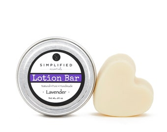 Lavender Body Lotion Bar / Lotion Bar / Organic Moisturizer / Shea Butter Bar / Cuticle Cream / Body Butter / Mother's Day Gift / Mom Gift