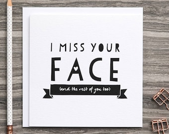 Miss You Cards Etsy Uk