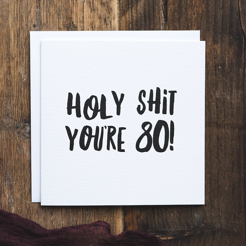 Funny 80th Birthday Card Milestone