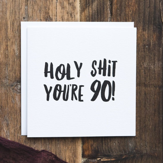Funny 90th Birthday Card Milestone