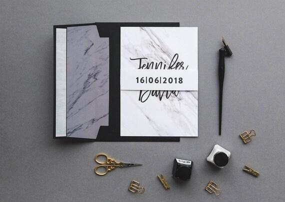 Marmur Zaproszenia ślubne Zaproszenie Wedding Set Marmur Etsy