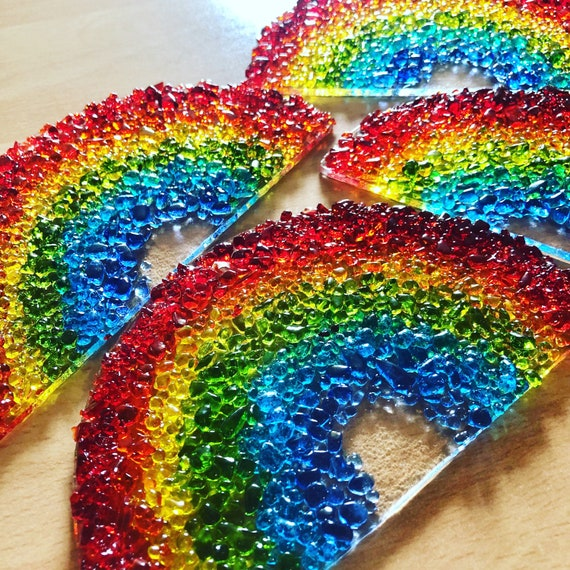 Glass Rainbow Suncatcher - Made To Order Handmade, gift, birthday, window, cute, gifts