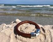Leather bracelet, Man leather bracelet, Thick leather strap bracelet, Leather thick, Strap bracelet, Brown leather, Brown leather bracelet