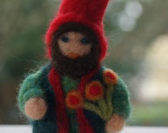 felted dwarf 13 cm fairytale wool