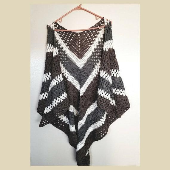 Easy Crochet Pattern Shawl Pattern Crochet Wrap Pattern Etsy