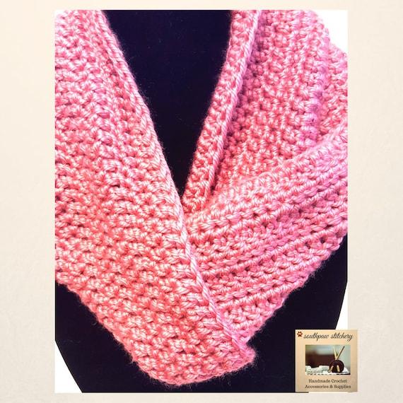 Easy Crochet Pattern Cowl Pattern Infinity Scarf Pattern Etsy