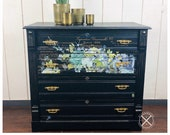 Antique Dresser, Painted with Transfer/Stencil Treatment