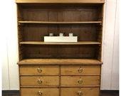1800s American Pine Hutch