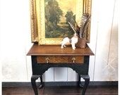 Antique George I Lowboy side table night stand, painted body