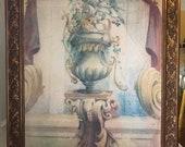 Italian Fresco, painting, framed
